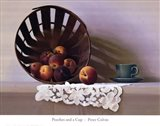 Peaches and a Cup Art Print