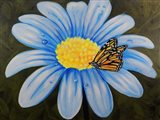 Butterfly Lunch on Flower Art Print
