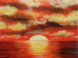 Sunny Ocean Art Print