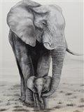 Elephant Love Art Print
