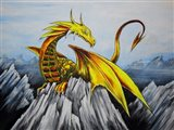 Anime Dragon Art Print