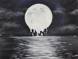 Melty moon Art Print