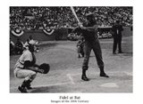 Fidel at Bat Art Print