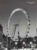 Ferris Wheel, London Art Print
