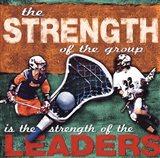 Stregenth- Lacrosse Art Print