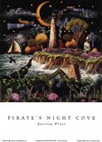 Pirates Night Cove Art Print