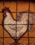 Spotted Rooster Art Print