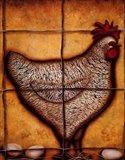 Hen and Eggs Art Print