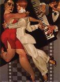 Tango a Robe Rouge Art Print