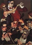 Tango Red Tie Art Print