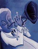Blue Jazzman I Art Print