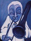 Blue Jazzman III Art Print