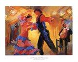 La Pareja del Flamenco Art Print