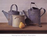 Watering Cans with Pear I Art Print