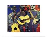 Three Folk Musicians, 1967 Art Print