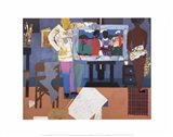 Profile/Part II, The Thirties: Artist with Painting and Model, 1981 Art Print