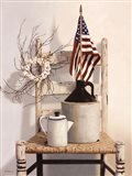 Chair With Jug and Flag Art Print