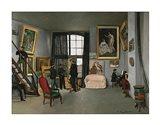 The Painter's Atelier in the rue de la Condamine, 1870 Art Print