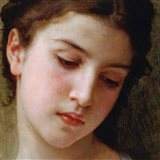 Head Study of a Young Girl (detail) Art Print