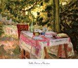 Table Set in a Garden Art Print