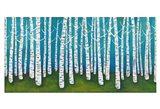 Springtime Birches Art Print