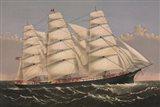 Clipper Ship Three Brothers, ca. 1875 Art Print