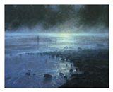 Blue Moon Rising Art Print
