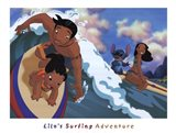 Lilo's Surfing Adventure Art Print