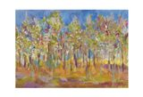 Orchard in Orchid Art Print