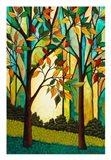 Rusty Leaves Art Print