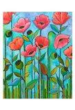 Coral Poppies Art Print
