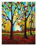 Tree Color Change Art Print