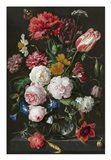 Abraham Mignon, Still Life with Flowers in a Glass Vase Art Print