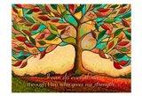 Tree Splendor II (I can do everything through Him...) Art Print