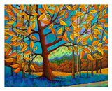 Beneath the Golden Leaves Art Print