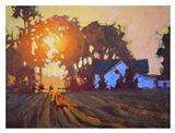Sunrise Over Farmhouse Art Print