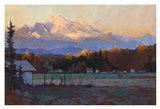 Late October Light Mt. Baker Art Print