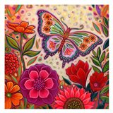 Butterfly Floral Art Print
