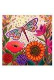 Dragonfly Floral Art Print