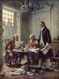 Writing the Declaration of Independence, 1776 Art Print
