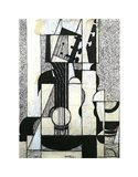 Still Life with Guitar Art Print