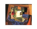 Fruit Bowl on a Tablecloth Art Print