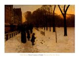 Boston Common at Twilight, 1885-86 Art Print