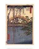 Precincts of the Tenjin Shrine at Kameido, 1856 Art Print