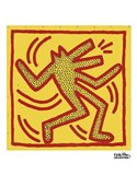 Untitled, 1982 (red dog on yellow) Art Print