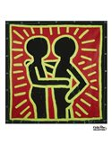 Untitled, 1982 (couple in black, red, and green) Art Print
