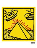 Untitled, 1984 (pyramid with UFOs) Art Print
