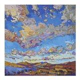 Driving Sky Art Print