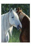 Horse Whispering Art Print