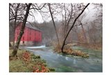 Red Grist Mill Art Print